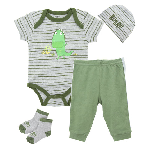 Kavkas 2018 Owl Design Comfortable Baby Clothing Sets Cotton Boy Clothes Summer Short Sleeve Infant Bodysuits+Pants+Socks+Hat