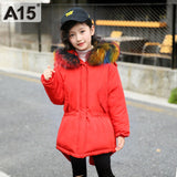 Kids Down Jacket Hooded Winter Warm Parka Russian Toddler Girls Winter Coats and Jackets Thick Children's Winter Co with Fur 6