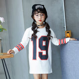Kids Girls Dress Cotton Long Sleeve Girls Clothing Autumn Casual Children Girls Dress 5 6 7 8 9 10 11 12 13 14 15 Years