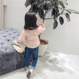Kids Girls Jeans 2018 Autumn Spring Girls Denim Pants Children Kids Girls Casual Trousers Sknny Pants Blue/Black High Quality