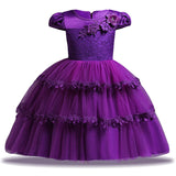Kids Party Dresses For Girls Princess Dress Flower Girls Wedding Dress Toddler Children Girls Clothing 1 2 3 4 5 6 7 8 9 10 Year