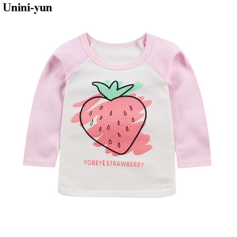 Kids T-shirts Cute Family Pink girls T Shirt Long Sleeved Baby Girls Tops 2018 New Spring Autumn Children's Tees Newborns tee