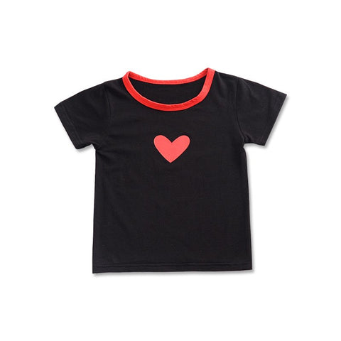 Kindergarten Cute Love Hit Color T-shirt 2018 Summer Children's Clothing Boys Short Sleeve Shirt 2T-6T