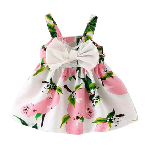 Summer 2018 Girls Dresses Girls Sleeveless Vestidos A-Line Print Cotton Children Clothes Baby Girl Dress Dropshipping