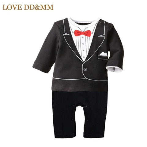 LOVE DD&MM Newborn Baby Rompers Clothing Baby Boys Clothes Tie Gentleman Bow Leisure Infant Toddler One-pieces Jumpsuit