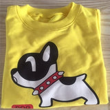 Band Sport Baby Boys T-shirt Dog Pattern Long Sleeve T Shirts for boys Cotton Children Clothes