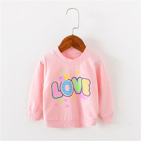 Brand Love Pattern Long Sleeve Tops Autumn Clothing Baby Boy Girls Sweatshirts Baby T shirts for Babys Girls Clothes