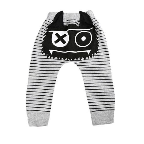 Cartoon Harem Pants Casual Cute Kids Baby Boys Girls Bottoms Monster Trousers Baby Boy Pants