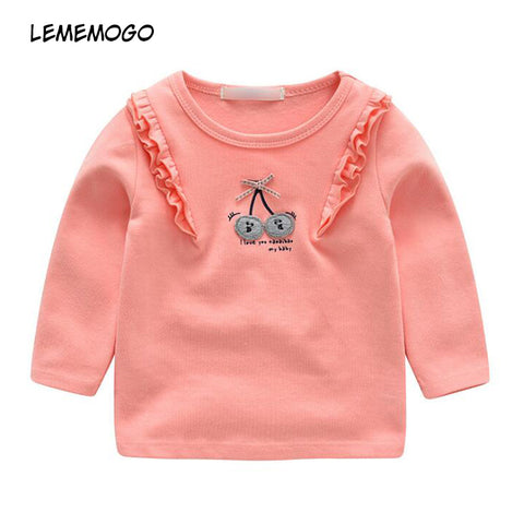 New Girls Cotton Sweatshirts Children Fashion Active Girl Top Clothes Kids Solid Long Sleeve Sweater for Baby Girl 1-4y