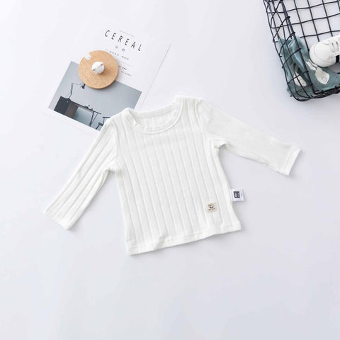 Baby Spring Cotton Solid Tees Infants O-Neck Fashion Tops Newborn Striped Soft T-shirts Toddler Boy Girl 0-24M Clothes
