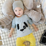 Dog Baby Tees Infants Spring Cotton O-Neck Fashion Tops Newborn Cartoon Animal T-shirts Toddler Soft Cute Full Clothes