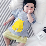 Print Summer Baby Sweatershirts Toddler O-Neck Short Cotton Pikachu Tops Cartoon Casual Animal Unisex Newborn Tees
