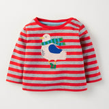 children brand 2017 autumn new boys girls cotton long sleeve O-neck unisex striped animal c plane t shirts