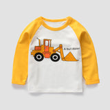 Long Sleeve Cartoon T-shirt For Boys Cotton T Shirt Spring Autumn C Kids Sweatshirt Children's Clothing Kindergarten Boy Tops