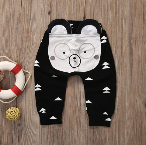 Lovely Baby Kids Girls Boys Pants Casual Cute Animals High Waist Pants Trousers Baby Pants