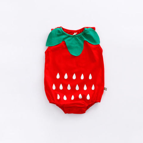 Lovely Infant Newborn Baby Boys Girls Clothes Cartoon Bodysuit Fruit Strawberry Pineapple Outfits Easter Costume For Baby