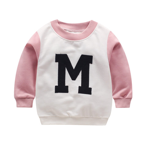 Baby embroidered Hoodies Sweatshirts clothing spring long sleeve o-neck clothing Baby girl and boy Hoodies