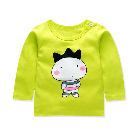 Baby's T-shirt cotton Cartoons Autumn Unisex Long Sleeve Newest T-shirt O-neck Cute Lovely Baby Clothing T-shirts