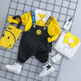 MANJI Baby boys clothes sets 0-3y Autumn 2018 New Fashion Style Cotton 18050 Children clothes Boys overalls Clothing Suit