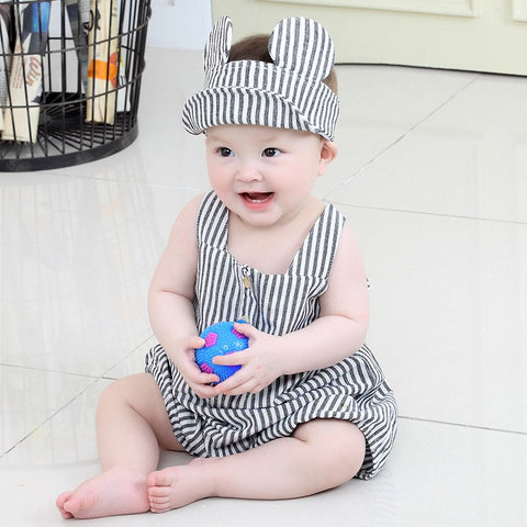2018 Baby Boys Clothes Infant Clothing Striped Bodysuits H 2 Pcs Baby Set Cute Baby Girl Outfit