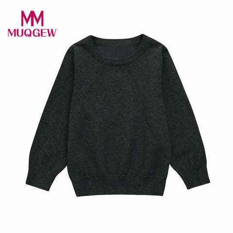 2017 Winter Warm Toddler Kid Sweater Boys Girls Colorful Clothes Knitted Solid Sweater Cardigan Tops