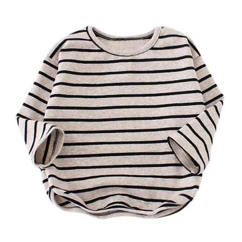 Baby Girls Boys Long Sleeve Stripe Soft Toddler Kids T-Shirt Warm Clothes blouses for little children's autumn-winter