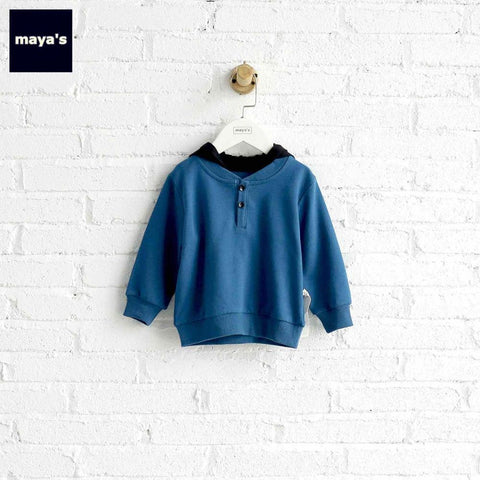 Mayas Full Cotton Patchwork Kids Hoodies Full Sleeves Soft Breathable Children Sweater Toddler Spring Basic Causal Tops 81202