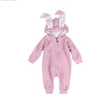 2017 Autumn Baby Rompers Cute Cartoon Rabbit Infant Girls Boys Jumpers Kids Baby Outfits Baby Clothes Bunny Jumpsuits
