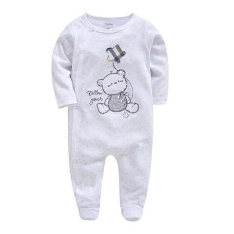 Newborn Baby Boys and Girls Romper Clothes Long Sleeve Jumpsuit Cute Animal Comfortable Clothing For New Born Babies