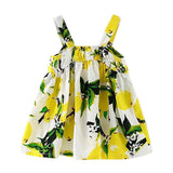 New 0-24M Baby Girl Dress Kids Clothing Summer Style Girls Casual Dresses Floral Print Infant Party Dress Designer Kids Clothes