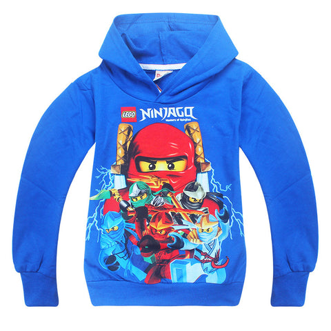 New 2017 hot sale fashion cartoon long sleeve hooded cotton T-shirt kids baby girls boys children hoodies sweatshirts sweaters