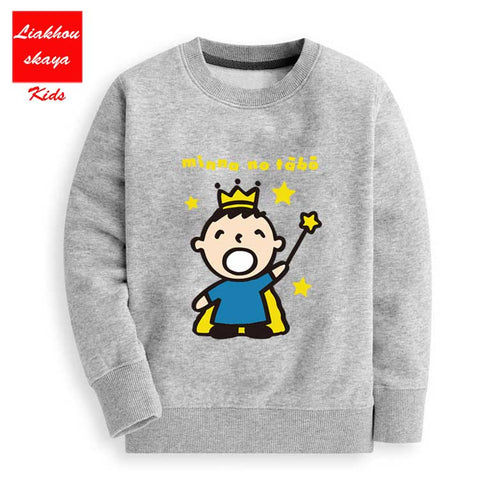 New 2018 Hot Sale Children's Cartoon C Co Hoodies-For-Boys Warm Sweatshirts Sweaters Clothes Clothes For Girls 12 years Old