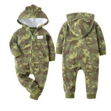 New 2018 baby costume cute camo baby jumpsuit coat for baby boy clothes , fleece outfit infant  Jacket for baby girl clothing