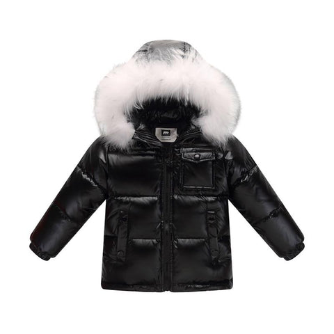 New 2018 winter down jacket for boys 2-8 years children's clothing thicken outerwe & coats with nature fur hooded parka kids