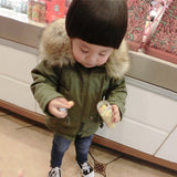 New Baby boys winter coats warm outerwear hooded thickness  Autumn 9M-2 old size Clothes  7BT040