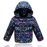 New Children Winter Thick Duck Down Jacket For Girls Outerwe Warm Hooded Coll Girl Winter Coats Print Down & Parkas