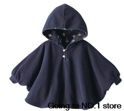 New Fashion Fleece Combi Baby Coat Babe Cloak Two-sided Outwear Floral Baby Poncho Cape Infant Baby Coat Children's Clothing
