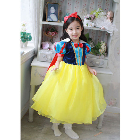 New High Quality Kids Princess Sofia Dress for Baby Girls Snow White Cosplay Costume Children Christmas Party Tutu Dresses 2016