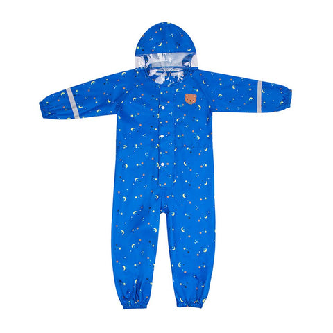 New Hot Fashion Waterproof Kids Baby Girls Boys Hoodies Outdoor Rain We jumpsuit Cartoon Poncho Hooded Children Clothing 1-6Y