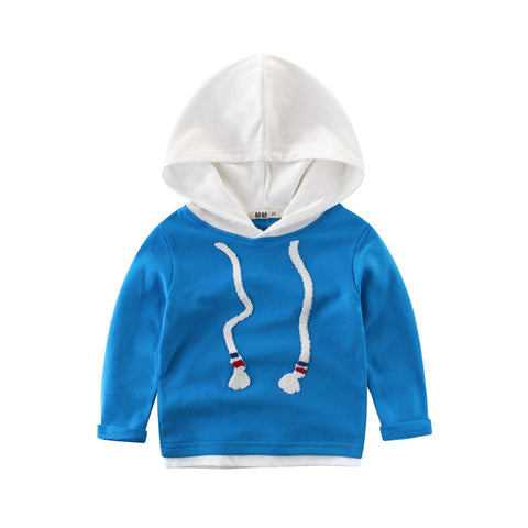 New Spring Autumn Girl Boys Sweatshirt Fashion Hooded Hoodie Long Sleeve Outerwe For Toddler Kids Tops Baby Cotton Pullover