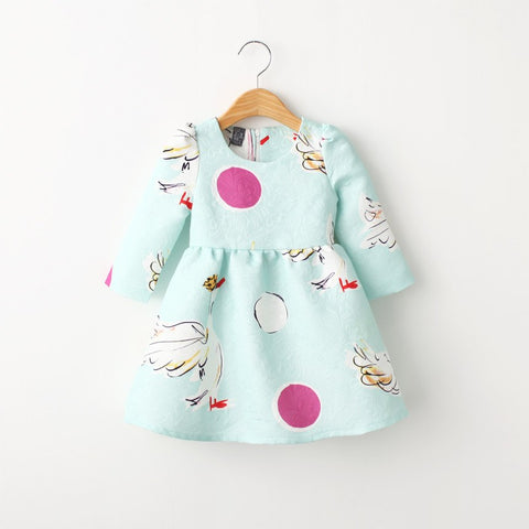New Winter Autumn Clothes for Children Adorable Baby Casual Dress for Girls 2 3 4 5 To 6 Years Long Sleeve Toddler Girls Dresses