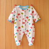 New lovey baby romper baby bodysuit cute newborn girl boy clothes rainbow flower animal style cotton baby clothing ropa de bebe