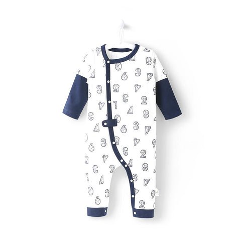 Newborn Baby Boy Clothes Summer Rompers 0 24 Months Baby Clothes Cute Number Pattern Boys Shirts Baby Jumpsuit Unisex NY150100