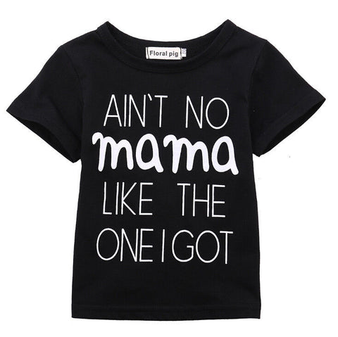 Newborn Baby Boys Girl Sweatshirt T-shirt Casual Tops Letter Clothes MAMA Tops Outfits 0-24M Summer