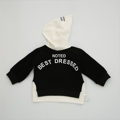 Newborn Baby Clothes Kids Boys Girl Contrast Color Embroidery X Hoodies Jacket Autumn Spring Sweatshirts Outwear Clothing A646