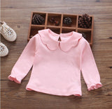 Newborn Baby Cotton Shirts Children Bottoming Shirt Kids Clothes Fashion Infant Long Sleeve Basic T-shirt Girls Lace Tops Summer