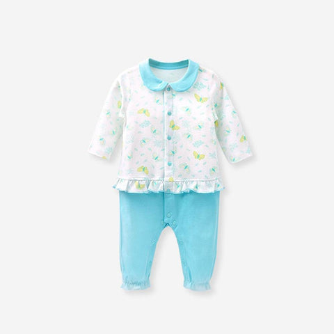Newborn Baby Girl Beach Clothes Butterfly Pattern Summer Rompers 0 24 Months Cotton Baby Clothes Boy Baby Jumpsuit 2018 150083