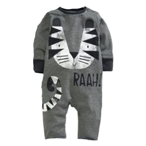 f133a1ca1416 Newborn Baby Girl Rompers Cute Cartoon Animal Print Clothes Cotton Long  Sleeve Clothing Set Infant Costumes Baby Boys Clothes