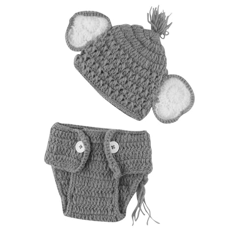 Amazon.com: Newborn Crochet Elephant Hat and Diaper Cover for baby ... | 480x480