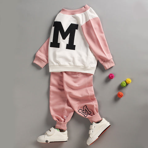 Newborn Boy Girl Clothes Sets Toddler Boys Cotton T shirts Sets Spring Cartoon Sweatshirts+Pants 2 pcs Suit Children Clothing